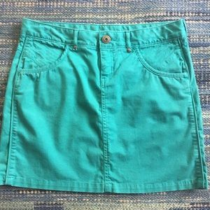 Athleta Kaleidoscope Miniskirt Skirt Teal Twill 6